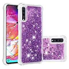 voordelige -hoesje Voor Samsung Galaxy A6 (2018) / A6+ (2018) / Galaxy A7(2018) Schokbestendig / Stromende vloeistof / Transparant Achterkant Glitterglans Zacht TPU