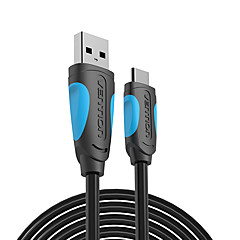 cheap -Vention USB C Cable USB Type C Cable 2A USB 3.1 Fast Charging USB-C Data Cable Type-C Cable for Samsung Huawei ZUK LG Xiaomi 0.5m