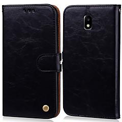 povoljno -Θήκη Za Samsung Galaxy J3 (2017) Utor za kartice / Zaokret Korice Jednobojni Tvrdo PU koža