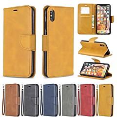 ieftine -case pentru Apple iPhone xr / iphone xs max magnetice / flip / shockproof corp corpuri de corp de culoare solidă hard piele pu pentru iphone xs / x / 8 plus / 7 / 6s plus / 6/5 / 5s / se