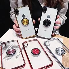 voordelige -hoesje voor apple iphone xr / iphone xs max transparant / ringhouder achterkant transparent soft tpu voor iphone x / xs / 6/6 plus / 6s / 6s plus / 7/7 plus / 8/8 plus