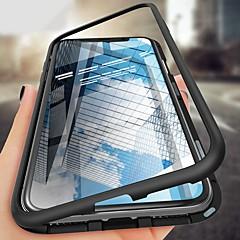 رخيصةأون -غطاء من أجل Apple iPhone XS / iPhone XR / iPhone XS Max ضد الصدمات / نحيف جداً / مغناطيس غطاء كامل للجسم لون سادة قاسي زجاج مقوى / معدن