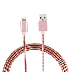 cheap -D8 MFI Lightning cable Micro USB / Lightning cable 1m(3ft) Stainless metal charging cable data cable quick charge cable for iPhone/iPad/iPod