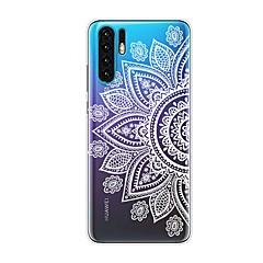 povoljno -Θήκη Za Huawei Huawei P20 / Huawei P20 Pro / Huawei P20 lite Otporno na trešnju / Prozirno / Uzorak Stražnja maska Cvijet TPU / P10 Lite / P10