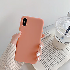 voordelige -hoesje Voor Apple iPhone XS / iPhone XR / iPhone XS Max Stofbestendig / Ultradun Achterkant Effen / Cartoon TPU