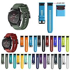 Недорогие -26 22 20мм ремешок для часов для garmin fenix 5x 5s 5 3 3 часа для fenix 6x 6 6s часы быстросъемный силиконовый ремешок на запястье easyfit