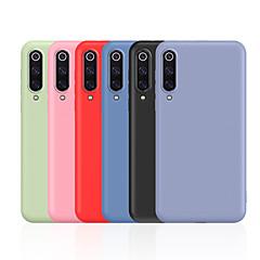 povoljno -Θήκη Za Xiaomi Xiaomi Mi 9 Otporno na trešnju / Ultra tanko / Backup Stražnja maska Jednobojni Mekano silika gel