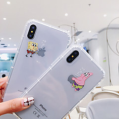 voordelige -hoesje Voor Apple iPhone XS / iPhone XR / iPhone XS Max Schokbestendig / Stofbestendig / Transparant Achterkant Transparant / Cartoon TPU