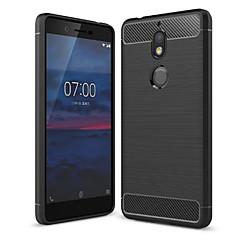 povoljno -Θήκη Za Nokia Nokia 7 / Nokia 7 Plus / Nokia 7.1 Protiv prašine Stražnja maska Jednobojni Mekano Carbon Fiber