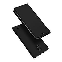 povoljno -Θήκη Za Nokia Nokia 1 Plus Utor za kartice / sa stalkom / Zaokret Korice Jednobojni PU koža / TPU