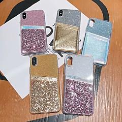 voordelige -hoesje Voor Samsung Galaxy S9 / S9 Plus / S8 Plus Kaarthouder / Schokbestendig / Doorzichtig Achterkant Transparant / Glitterglans TPU