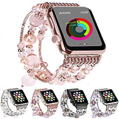 Недорогие -Модный ремешок для часов Apple Watch Band 44мм / 40мм / 38мм / 42мм bling женщины агат бисер ремешок браслет ремешок для яблок смотреть серии 4/3/2/1 для девочек