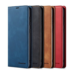 voordelige -hoesje Voor Samsung Galaxy A6 (2018) / A8 2018 / A7 Kaarthouder / Magnetisch / Auto Slapen / Ontwaken Volledig hoesje Effen PU-nahka / TPU