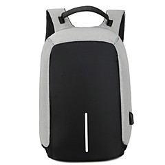 cheap -15.6 Inch Laptop Commuter Backpacks Nylon Fiber Solid Color Unisex Water Proof Shock Proof