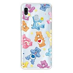 voordelige -hoesje Voor Samsung Galaxy A6 (2018) / Galaxy A7(2018) / Galaxy A10 (2019) Ultradun / Transparant / Patroon Achterkant dier / Cartoon TPU