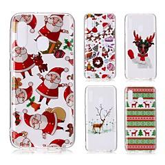 voordelige -hoesje voor Samsung Galaxy A6 (2018) / A6 (2018) / A8 2018 Transparant / Patroon Achterkant Kerst TPU voor Samsung Galaxy A10 / A20 / A20E / A30 / A40 / A50 / A60 / A70 / A8 Plus