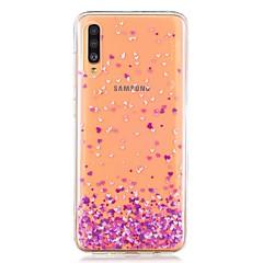 voordelige -hoesje voor Samsung Galaxy A40 (2019) / Galaxy A50 (2019) / A70 (2019) Achterkant van het patroon Purple Heart TPU voor A10 (2019) / A20 (2019) / A30 (2019) / A8 (2018) / A7 (2018) / a6 (2018)
