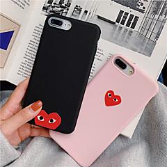 voordelige -effen kleuren hart TPU hoesje voor Apple iPhone 11 pro max 8 plus 7 plus 6 plus max patroon achterkant