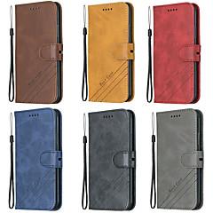 رخيصةأون -غطاء من أجل Samsung Galaxy S9 / S9 Plus / S8 Plus محفظة / حامل البطاقات / مع حامل غطاء كامل للجسم لون سادة جلد PU