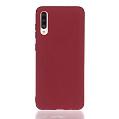 olcso -Case Kompatibilitás Samsung Galaxy Galaxy A7(2018) / Galaxy S10 / Galaxy S10 Plus Ütésálló Fekete tok Egyszínű TPU