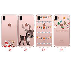 رخيصةأون -غطاء من أجل Apple اي فون 11 / iPhone 11 Pro / iPhone 11 Pro Max شبه شفّاف / نموذج غطاء خلفي عيد الميلاد TPU