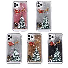 رخيصةأون -غطاء من أجل Apple اي فون 11 / iPhone 11 Pro / iPhone 11 Pro Max سائل متدفق / نموذج / بريق لماع غطاء خلفي عيد الميلاد TPU