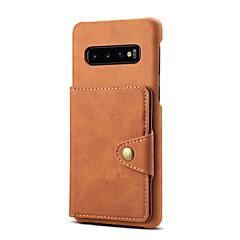 رخيصةأون -غطاء من أجل Samsung Galaxy S9 / S9 Plus / Note 9 حامل البطاقات غطاء خلفي لون سادة جلد PU