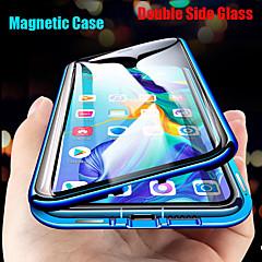 povoljno -Θήκη Za Huawei Huawei P30 Pro / Huawei Mate 20 pro / Mate 30 Pro Zaokret / S magnetom Korice Jednobojni Kaljeno staklo / Metal