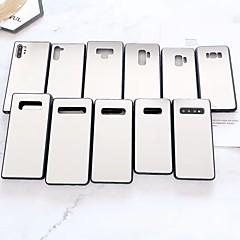 olcso -Case Kompatibilitás Samsung Galaxy S9 / S9 Plus / S8 Plus Galvanizálás / Tükör Fekete tok Egyszínű Akril
