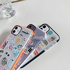 povoljno -Θήκη Za Apple iPhone 11 / iPhone 11 Pro / iPhone 11 Pro Max Otporno na trešnju Stražnja maska Igra s Appleovim logom / Prozirno TPU