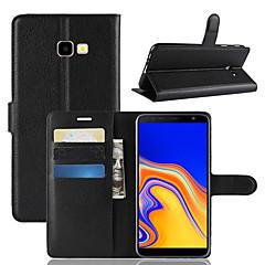 povoljno -Θήκη Za Samsung Galaxy J8 (2018) / J7 (2017) / J7 (2018) Novčanik / Utor za kartice / Otporno na trešnju Korice Jednobojni PU koža