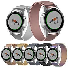 Недорогие -Ремешок для часов для Garmin Vivoactive 4S Garmin Спортивный ремешок / Классическая застежка / Миланский ремешок Нержавеющая сталь Повязка на запястье