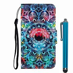 ieftine -carcasă pentru apple iphone 11 / iphone 11 pro / iphone 11 pro max portofel / suport pentru card / cu suport pentru cutii cu corp complet mandala pu piele / tpu pentru iPhone 7/7 plus / 8/8 plus / x /