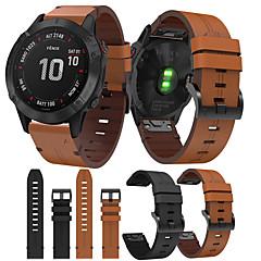 Недорогие -smartwatch band для garmin fenix 6x / 6x pro / fenix5x / 5x plus / 3 / 3hr / d2 / brvo / mk1 кожаная петля из натуральной кожи спортивные бизнес-группы высокого класса с удобными ремешками для