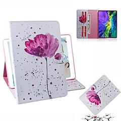 ieftine -Maska Pentru Apple iPad Mini 3/2/1 / iPad Mini 4 / iPad Pro 11'' Portofel / Titluar Card / Întoarce Carcasă Telefon Floare PU piele