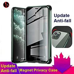 ieftine -carcasă magnetică anti-peep pentru iphone se2020 / 11/11 pro / 11 pro max / x / xs / xr / xs max / 8plus / 8 / 7plus / 7 carcasă dublă din sticlă securizată capac anti-peeping carcasă de protecție 360