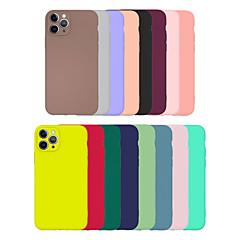 ieftine -carcasă ieftină pentru apple iphone 11 carcasă simplă carcasă multicoloră carcasă din spate ultra-subțire / mată carcasă tpu colorată solidă pentru iphone se2020 iphone 11 pro xs / xr / xs max / 11pro