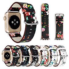 Недорогие -цветочные цветочные полосы для яблочных часов серии 5 4 3 2 1 38 / 40мм 42 / 44мм силиконовый ремешок с печатным рисунком для серии iwatch