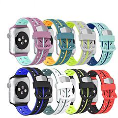 Недорогие -красочный мягкий силиконовый спортивный браслет 42 / 44мм / 38 / 40мм резиновый браслет для яблочных часов 1 2 3 4 5 ремешок для часов