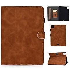 ieftine -Maska Pentru Apple iPad Air / iPad Mini 3/2/1 / iPad Mini 4 Titluar Card / Cu Stand / Întoarce Carcasă Telefon Mată PU piele