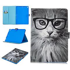 ieftine -Maska Pentru Apple iPad Air / iPad 4/3/2 / iPad (2018) Titluar Card / Anti Șoc / Model Carcasă Telefon Animal PU piele / TPU / iPad Pro 10.5 / iPad 9.7 (2017)