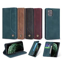 ieftine -carcasă pentru apple iphone 6 6s plus 7 7plus 8 8plus x xs xr xs max iphone 11 11 pro 11 pro se max rezistent la șocuri flip corpuri complete corp solid tpu card titular din piele PU