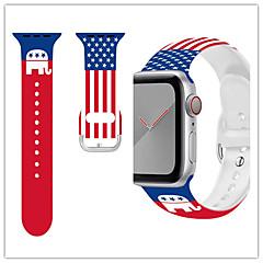 Недорогие -ремешок для часов для apple watch series 5/4/3/2/1 apple спортивный ремешок / деловой ремешок силиконовый ремешок на запястье
