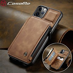 ieftine -husa din piele caseme retro pentru iphone 11 / iphone 11 pro / iphone 11 pro max / iphone 7plus / iphone 8plus rezistent la șocuri cu fermoar portofel telefon cu slot pentru card