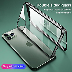 ieftine -carcasă magnetică pentru apple iphone 11 iphone xr sticlă dublă față 360 protecție transparentă carcasă de protecție magnetică metal adsorbție carcasă telefon mobil pentru iphone se2020 11pro max xsma