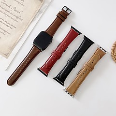 Недорогие -Ремешок для часов для Серия Apple Watch 5/4/3/2/1 Apple Бизнес группа Натуральная кожа Повязка на запястье