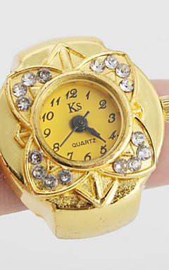 olcso -Női Gyűrűóra Arany óra Japán Kvarc Arany Alkalmi óra hölgyek Virág Vintage - Arany Egy év Akkumulátor élettartama / SSUO SR626SW