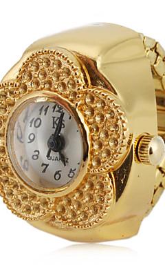 olcso -Női Gyűrűóra Arany óra Japán Kvarc Arany Alkalmi óra Analóg hölgyek Virág Divat