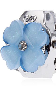 olcso -Női Gyűrűóra Japán Kvarc Ezüst Alkalmi óra hölgyek Virág Rajzfilmfigura - Fehér Kék Rózsaszín Egy év Akkumulátor élettartama / SSUO SR626SW