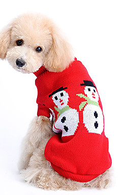 voordelige -Hond Truien Winter Hondenkleding Kostuum Wollen Effen Houd Warm Kerstmis XS S M L XL